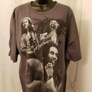 ZION Rootswear Gray Black Bob Marley T-Shirt